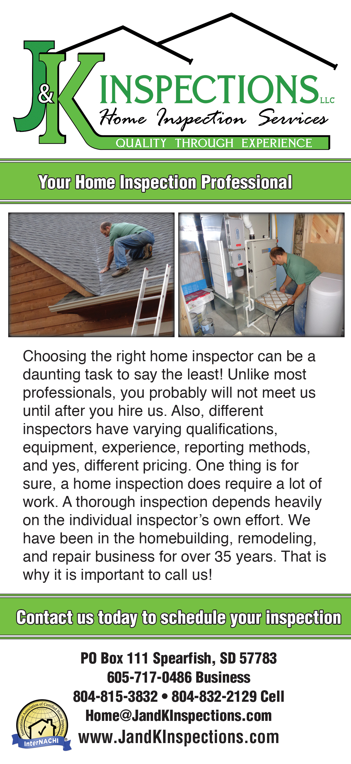J and K Inspections Brochure